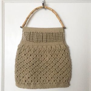 Handbags - 🧶Host Pick!🧶 Vintage Macramé Bag